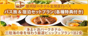 宿泊プラン&浄土が浜パークホテル106急行バス